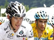 Andy Schleck e Alberto Contador