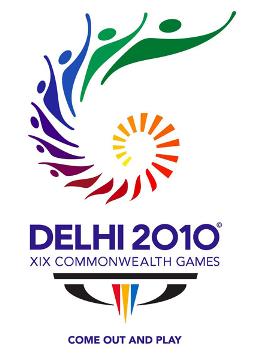 Il logo dei Giochi del Commonwealth di Delhi.