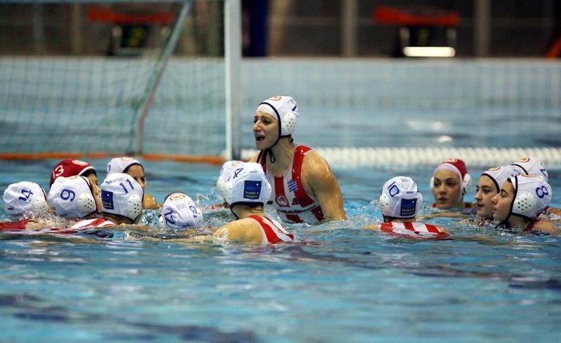 La squadra di pallanuoto femminile dell'Olympiakos