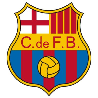 Il logo del Barcellona ai tempi del franchismo.