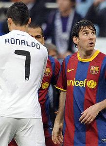 Cristiano Ronaldo e Lionel Messi, stelle di Real Madrid e Barcellona.
