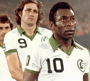Pelé e Giorgio Chinaglia ai tempi dei New York Cosmos